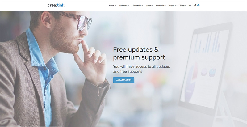 Creatink themes wordpress creer site internet entreprise agence compagnie
