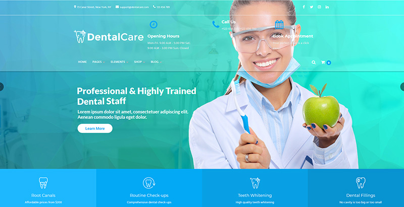 Dental Care Themes Wordpress Creer Site Internet Clinique Hopital