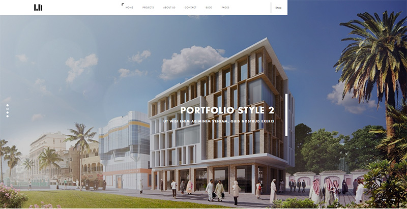 thèmes WordPress pour créer un site web d'architecte Domik