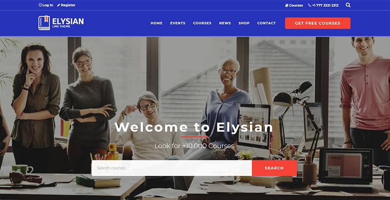 Elysian themes wordpress creer site internet e learning