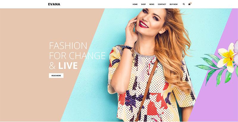 Evana themes wordpress creer boutique ligne site web ecommerce