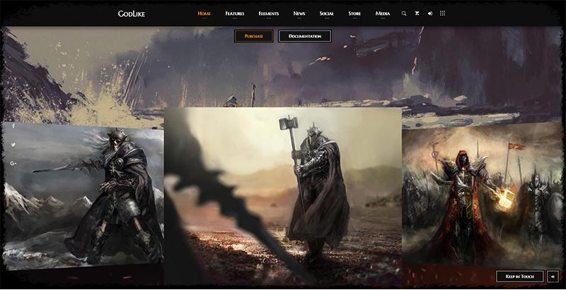 Godlike themes wordpress creer site internet esport jeux videos