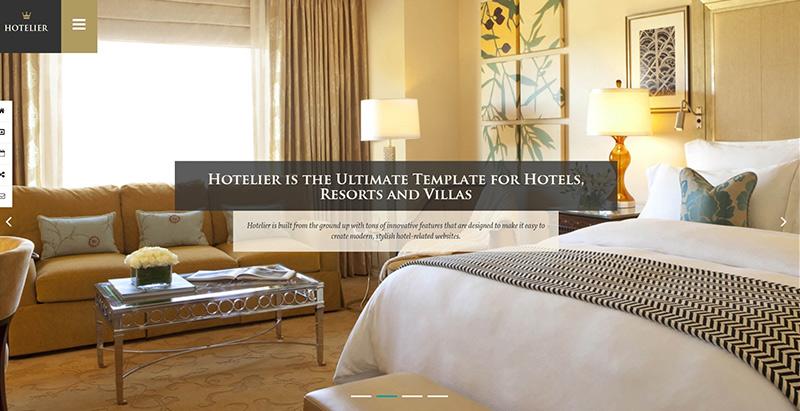 Hotelier themes wordpress creer site internet hotel motel spa