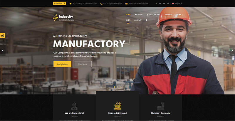 Induscity themes wordpress creer site web entreprise consulting cabinet industrie