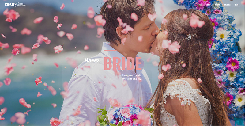 Kirsten themes wordpress creer site internet mariage fiancialles