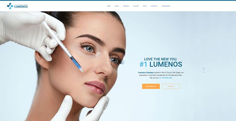 Lumenos themes wordpress creer site web hopital medecin clinique
