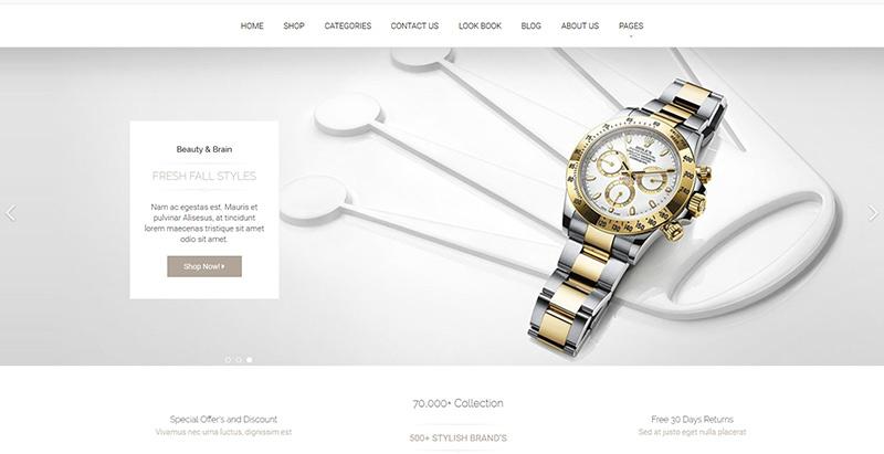 Luxury themes wordpress creer site web vente bijoux bracelets montres
