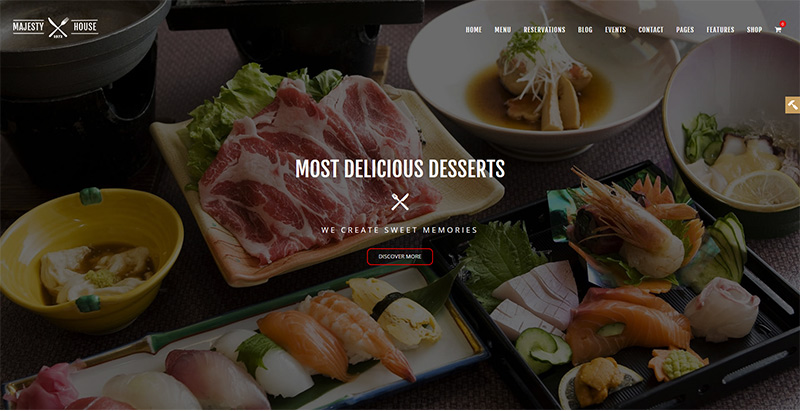 Majesty themes wordpress creer site internet restaurant bistrot