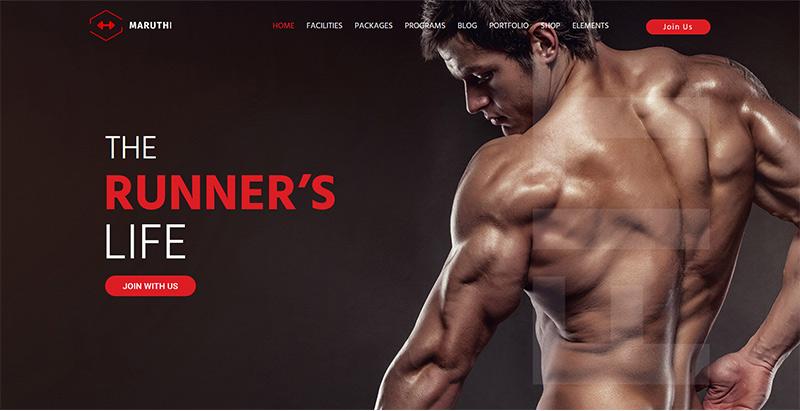 Maruthi themes wordpress creer site web club fitness gym yoga