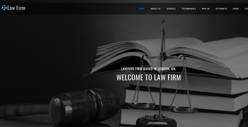 Maximum themes wordpress creer site web cabinet avocat procureur juge notaire