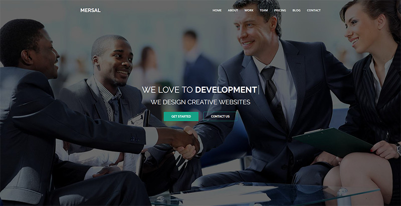 Mersal themes wordpress creer site internet entreprise agence compagnie