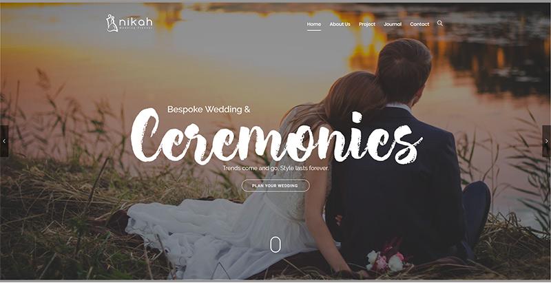 Nikah Themes Wordpress Creer Site Internet Mariage Fiancialles