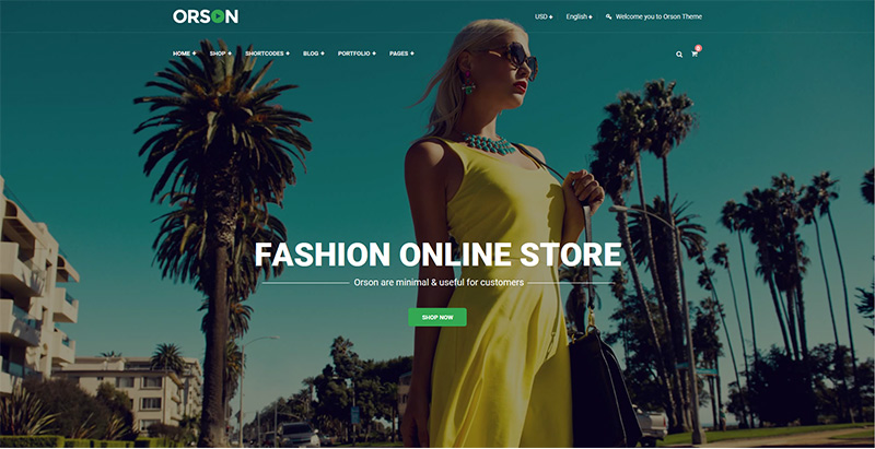 Orson themes wordpress creer boutique ligne site web