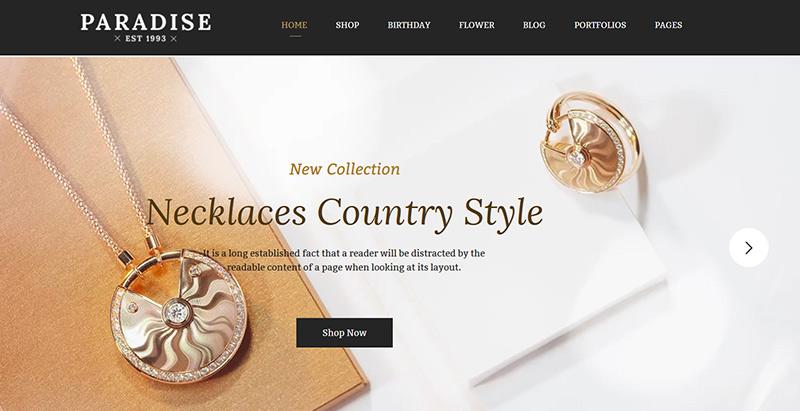 Temas de 10 WordPress para crear un sitio web de ventas de joyas ...