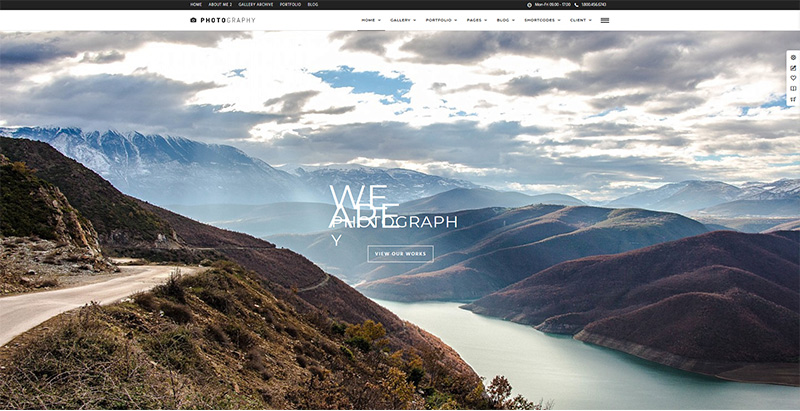 Photography themes wordpress creer site internet agence photographique