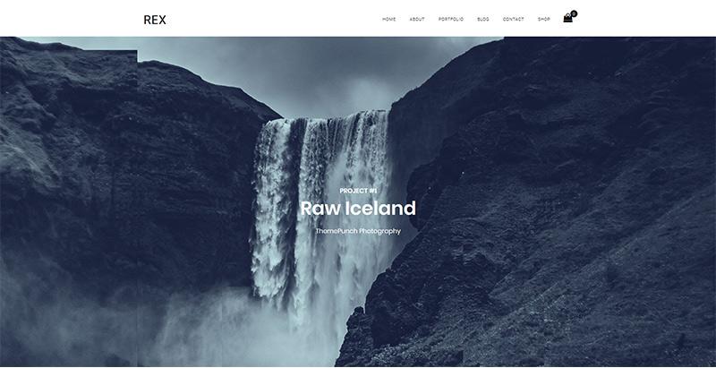 Rex themes wordpress creer site web photographe illustrateur designer