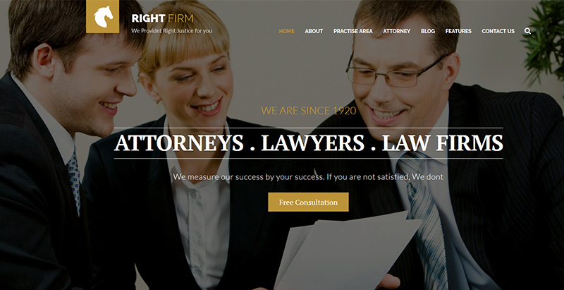 Right firmthemes wordpress creer site internet avocat procureur notaire