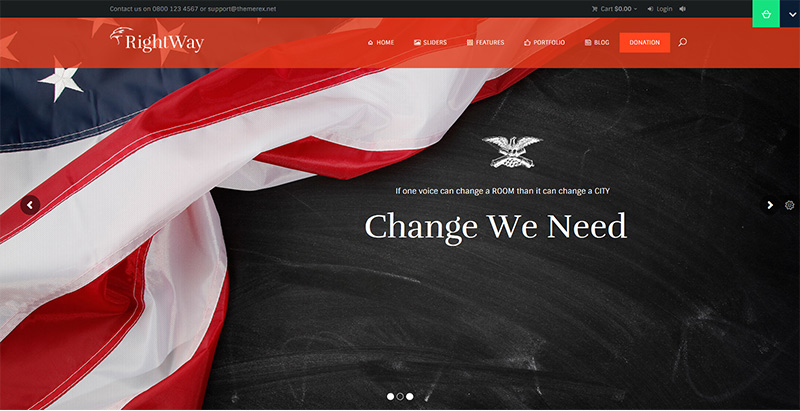 Right way themes wordpress creer site internet parti politique