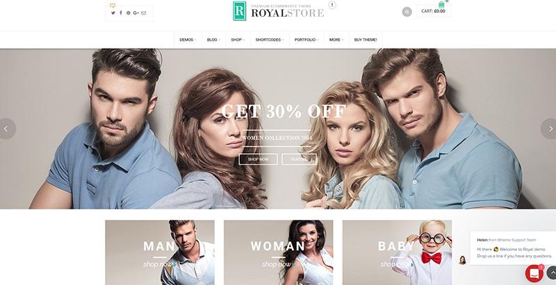 Royal themes wordpress creer boutique ligne ecommerce e commerce