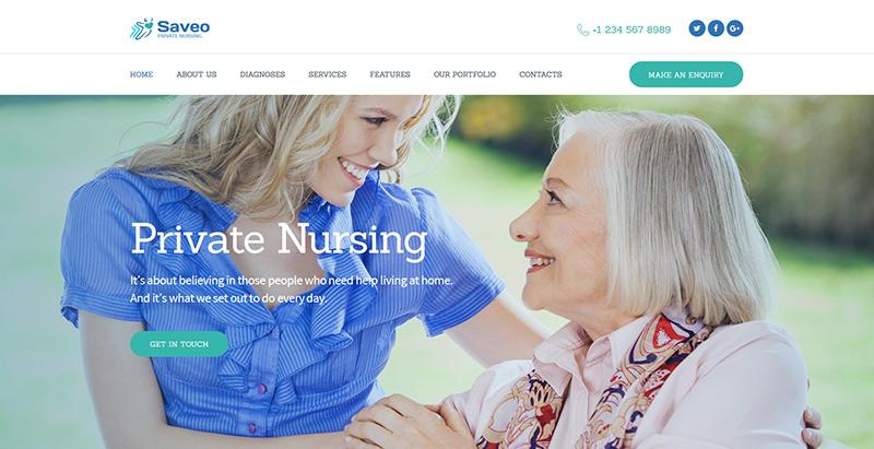 Saveo themes wordpress creer site web hopital medecin clinique