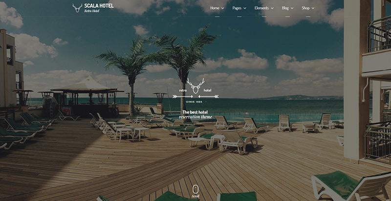 Scala themes wordpress creer site internet hotel motel spa