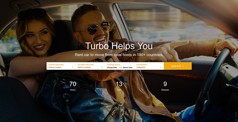 Chủ đề Turbo wordpress tạo trang web ngành công nghiệp đại lý