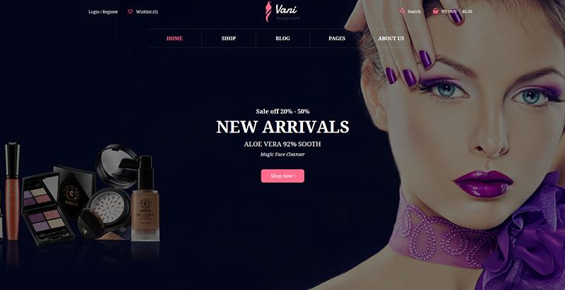 Vani beauty themes wordpress creer site internet salon coiffure
