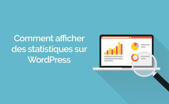 Comment ajouter des statistiques sur wordpress