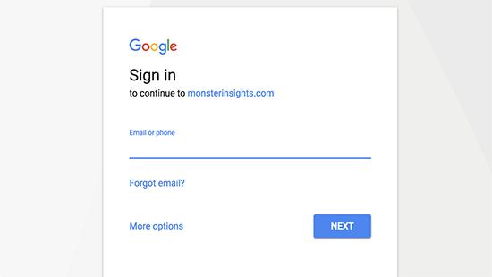 Connexion à un compte google
