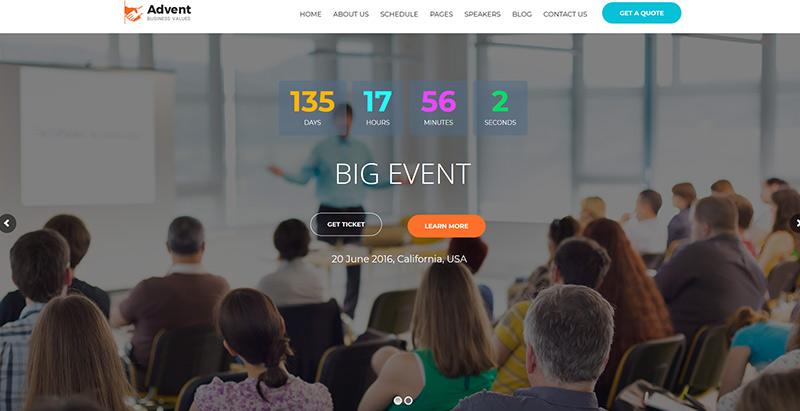 Temas de WordPress para crear un sitio web de eventos | BlogPasCher