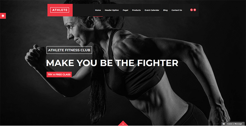 Athlete themes wordpress creer site web club fitness gym sport