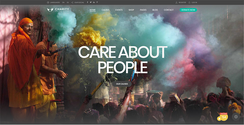 Charity foundation themes wordpress creer site internet charite son humanitaire