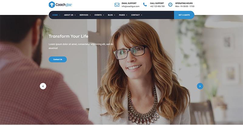 Coachgue themes wordpress creer site internet coach coaching