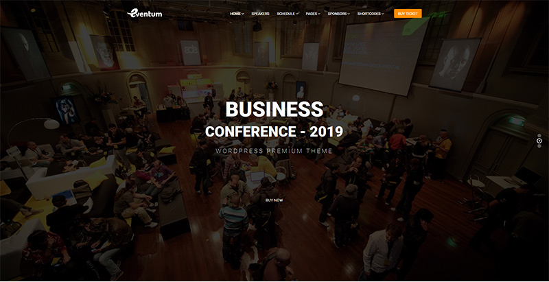 Eventum themes wordpress creer site internet conference seminaire events