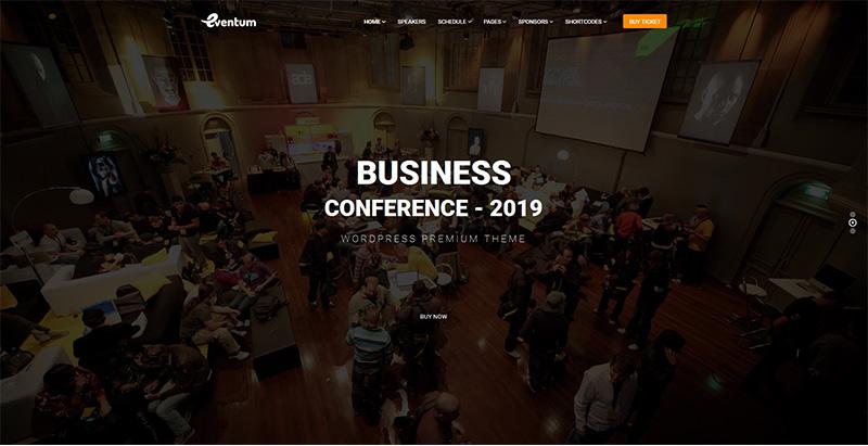thèmes WordPress pour créer un site Web de conférence Eventum