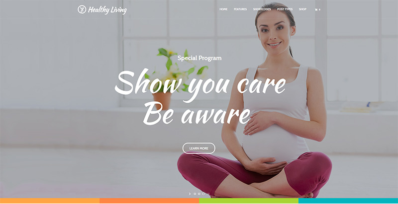 Healthy Living Themes Wordpress Creer Site Internet Nutritionniste Dieteticien