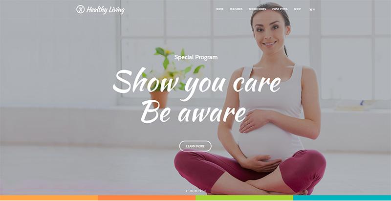 Healthy Living Themes Wordpress Creer Website Nutritionniste Dieteticien