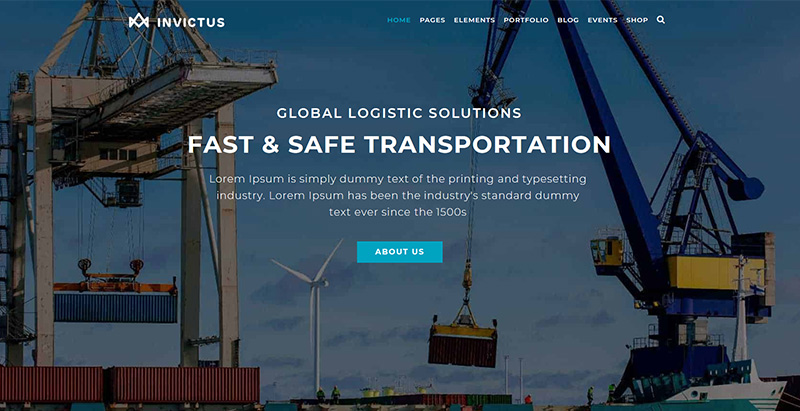 Invictus themes wordpress creer site web agence entreprise transports