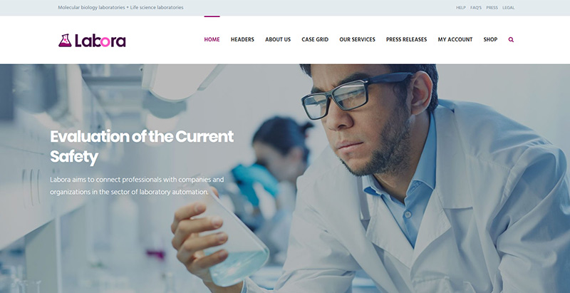 Labora themes wordpress creer site web hopital clinique dispensaire