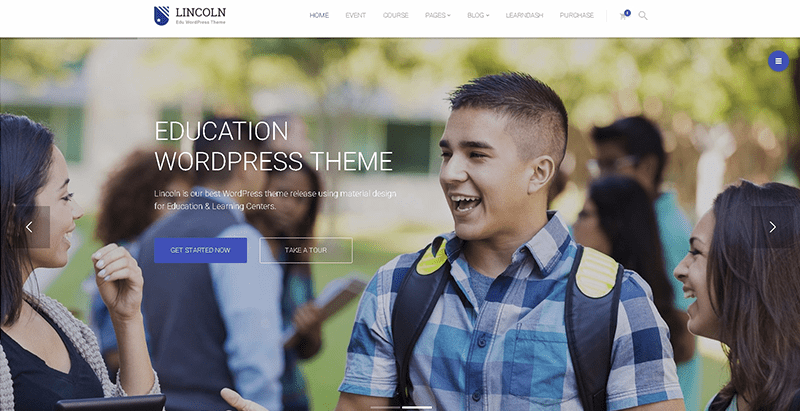 Lincoln themes wordpress creer site web e learning education en ligne