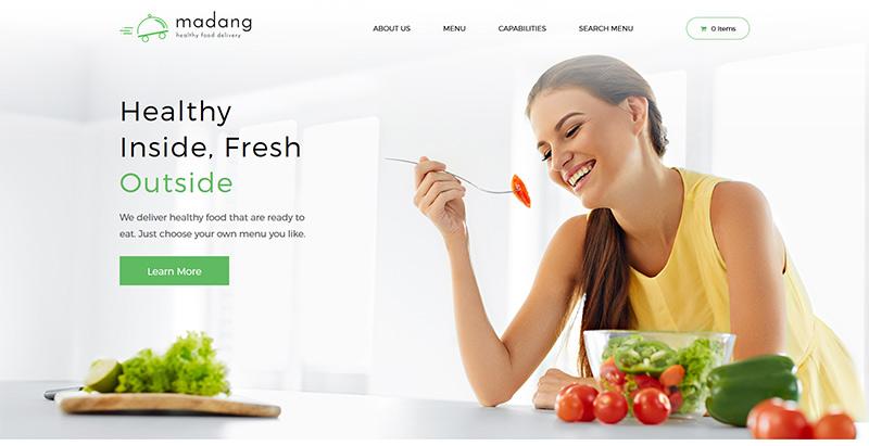 Madang themes wordpress creer site internet nutritionniste dieteticien
