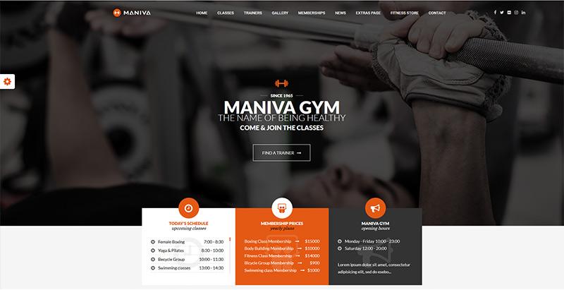 Temas WordPress para crear un sitio web del club de fitness ...