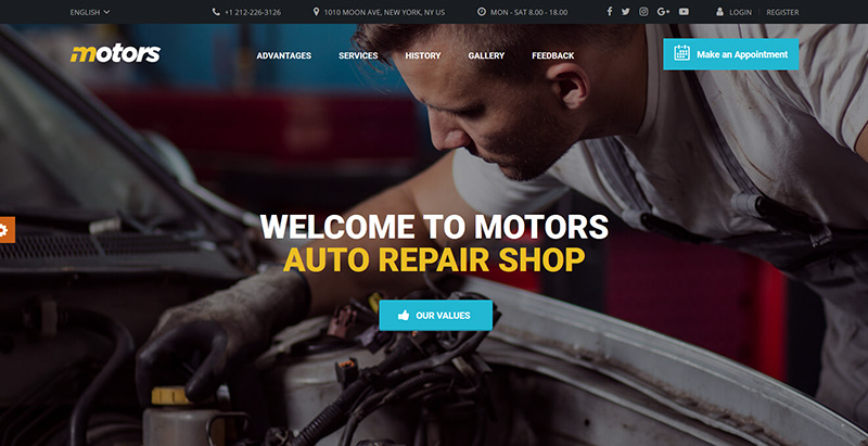 Motors themes wordpress creer site web agence entreprise start up