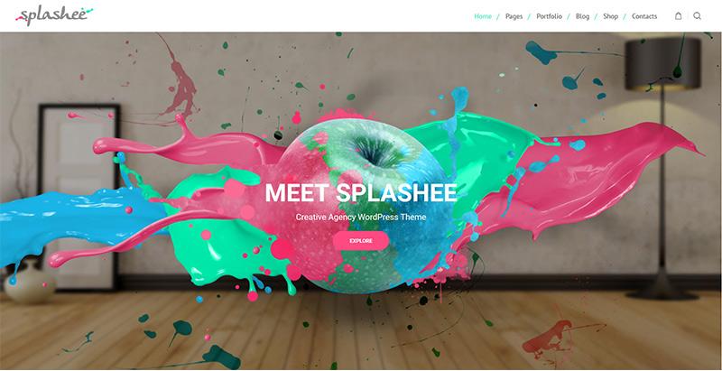 Splashee Themes Wordpress Creer Site Web Agence Creative Photographie