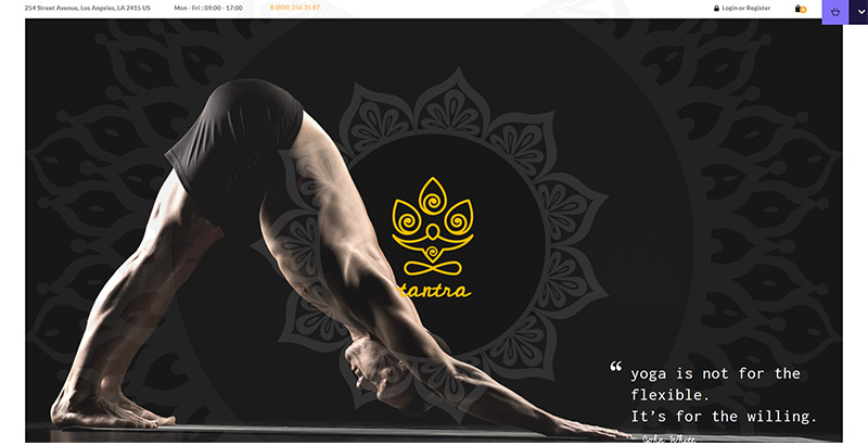 Tantra themes wordpress creer site web clubs gym fitness coach