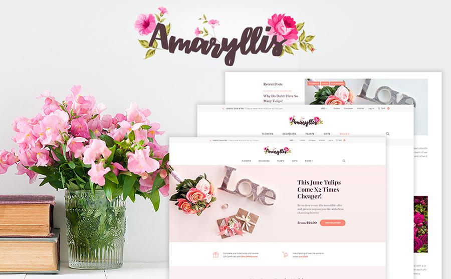 Amaryllis - thème WooCommerce pour magasin de fleurs