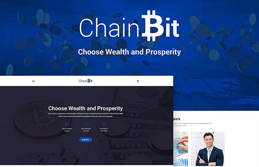 ChainBit - тема биткойнов WordPress