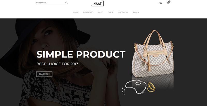 Haat themes wordpress woocommerce creer site web e commerce
