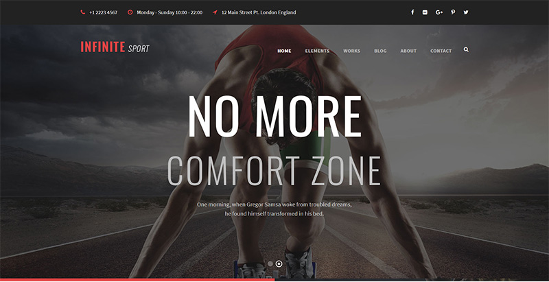 Infinite themes wordpress creer site internet club fitness