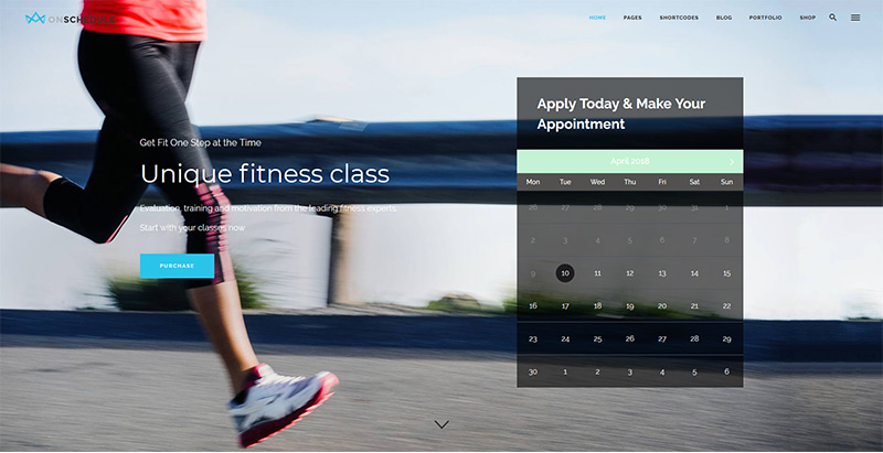 Onschedule themes wordpress creer site internet club fitness